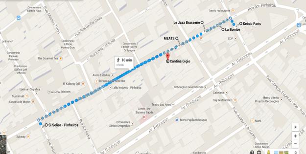 São Paulo: Rua dos Pinheiros e seus restaurantes